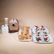Assorted Mini Pastries & Greek Yogurt Parfaits (Large)
