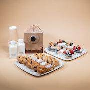 Assorted Mini Pastries & Greek Yogurt Parfaits (Small)