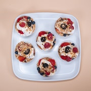 Greek yogurt, mixed berries, organic granola (6 individual cups)