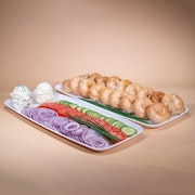 Assorted Mini Bagels & Spread Board - (Large Serves 10-12 people)