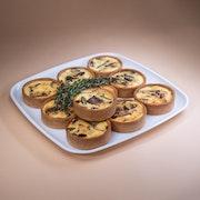 Seasonal Mini Vegetarian Quiche Board - (Small)