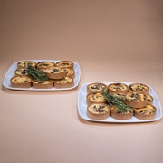 Seasonal Mini Vegetarian Quiche Board - (Large Serves 10-12 People)