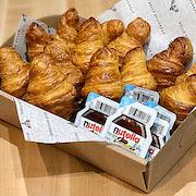 Mini Croissant Basket with Nutella