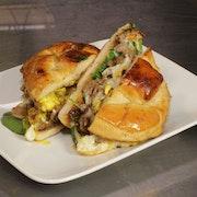 Caleb's Wake & Steak Sandwich
