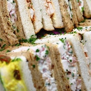 A mixture of chicken sandwiches which serve up to 5 people including Coronation Chicken, Chicken & Sweetcorn, Chicken Salad, Cajun Chicken, Chipotle Chicken