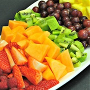 A delicious selection of whole and chopped Seasonal Fruits.