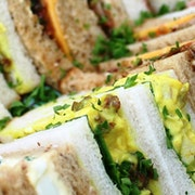 A mixture of sandwiches which serve up to 3 people including BLT; Egg Mayo; Tuna Mayo