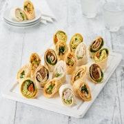 Gourmet Tortilla Wrap Roulade