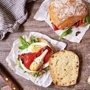 Sourdough ciabatta bread rolls