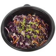 Red cabbage, coriander and lime coleslaw