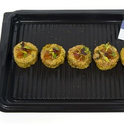 Spiced spinach and paneer cakes
