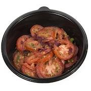 Tomato, red onion and caper
