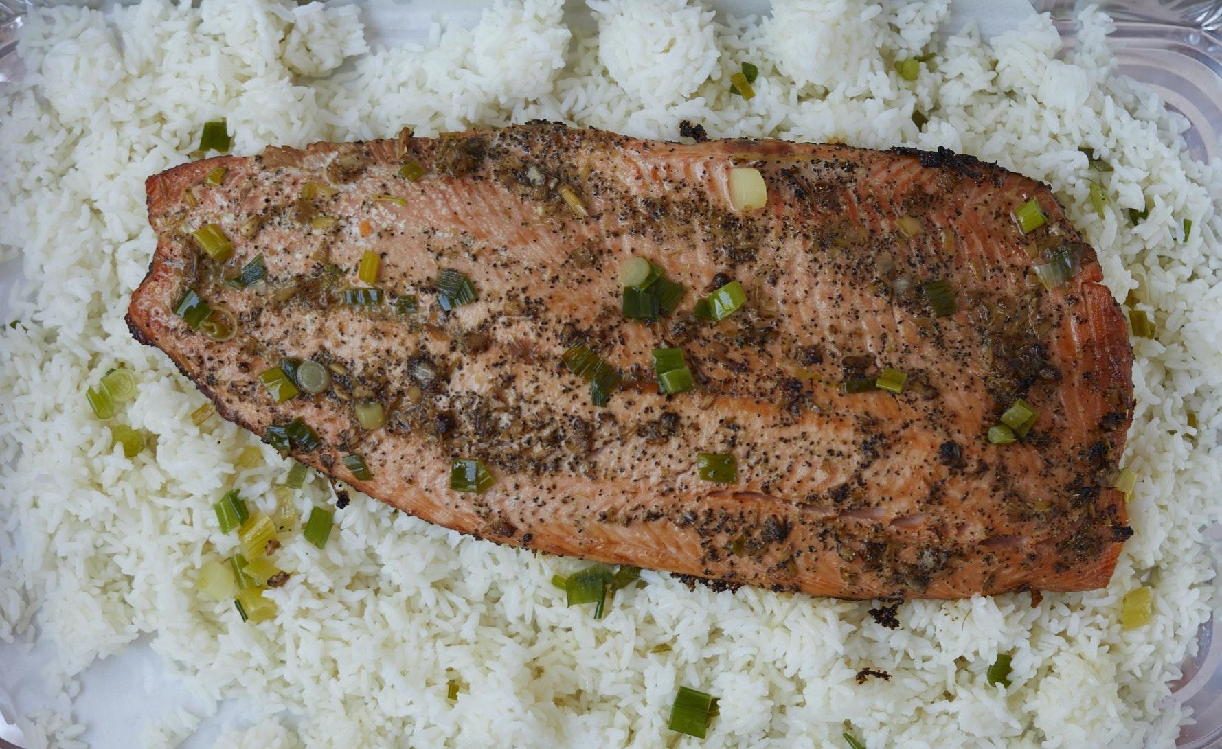 Lemongrass Ginger Salmon (Serves 10)