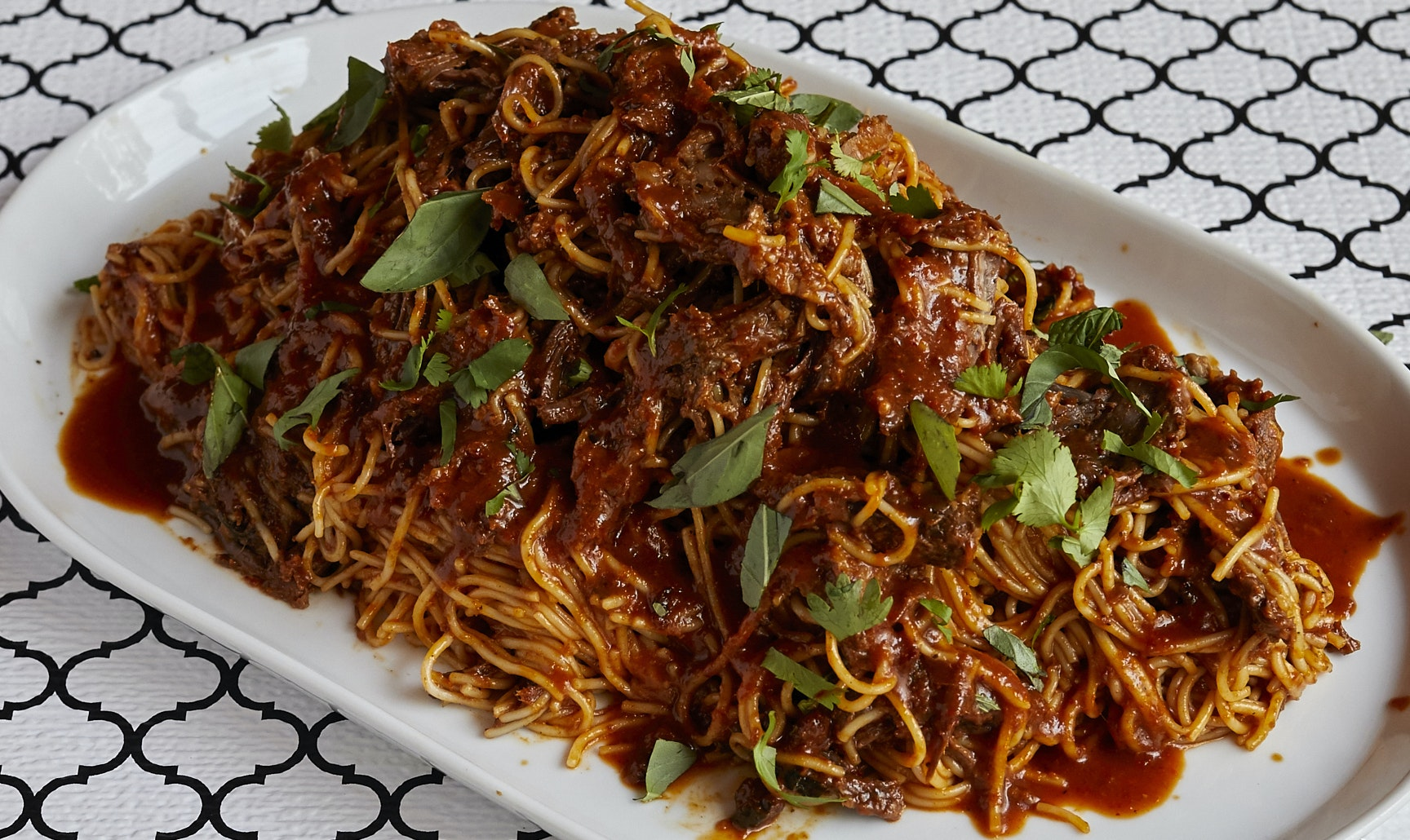 Spicy Beef Noodles (Serves 5)