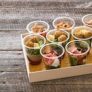 Plateau mini salades (10 stuks)
