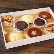 Brownie bio au chocolat belge - tartelette caramel - tartelette citron - tartelette pomme & canelle