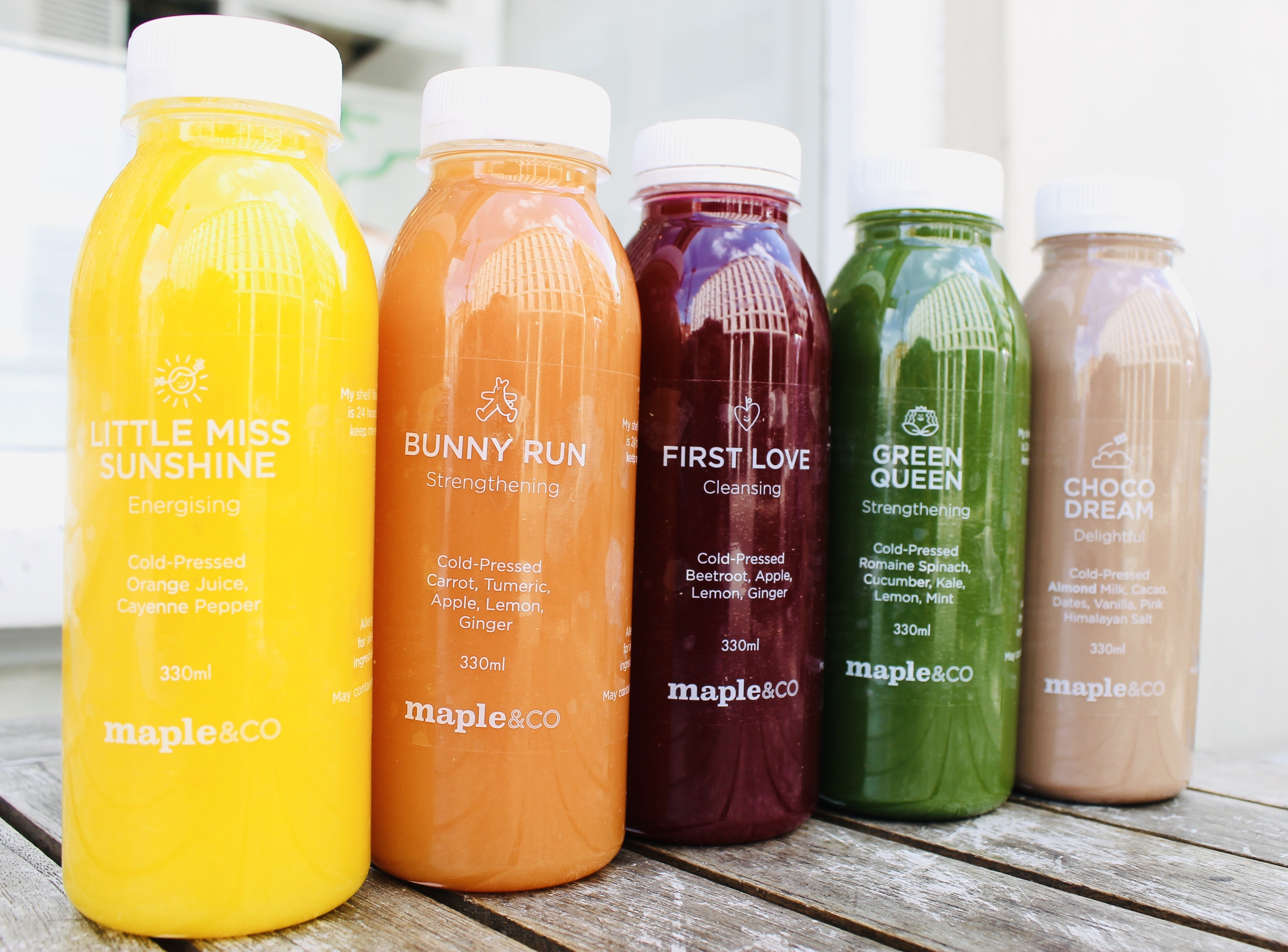 Raw Cold Pressed Juices