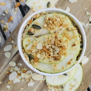 GF Oats, Chai Mix, Maple Syrup, Green Apple, Granola