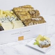 Assortment of 3 different cheeses: Brie, Gruyère, Fourme d