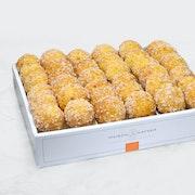 Assortment of mini chouquettes : (320 cal per portion)